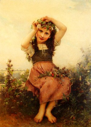 Leon-Jean-Basile Perrault - A crown of Flowers
