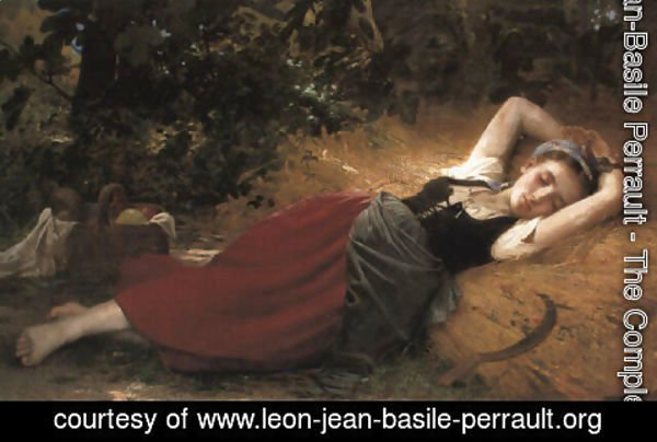 Leon-Jean-Basile Perrault - A young peasant girl, sleeping
