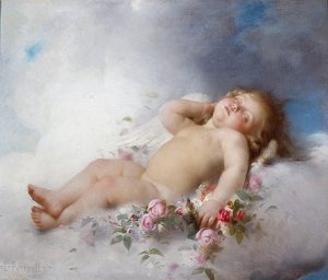 Leon-Jean-Basile Perrault - Sleeping Putto