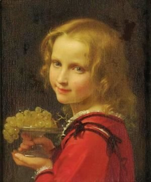 Leon-Jean-Basile Perrault - Girl With Grapes