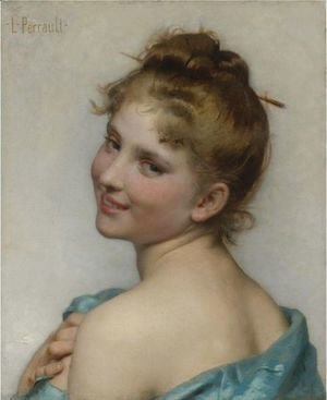 Leon-Jean-Basile Perrault - A Young Beauty
