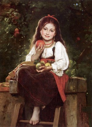 Leon-Jean-Basile Perrault - The Apple Picker